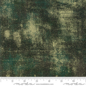 Grunge Metallic By Basicgrey For Moda - Christmas Green