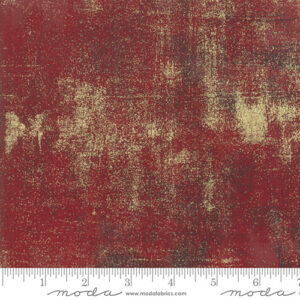 Grunge Metallic By Basicgrey For Moda - Red Berry