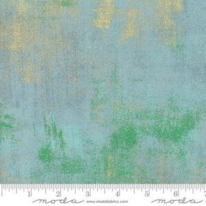 Grunge Metallic By Basicgrey For Moda - Blue