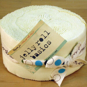 Bella Solids Jelly Rolls - Snow - Packs Of 4
