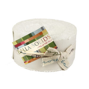 Bella Solids Jelly Rolls - White - Packs Of 4