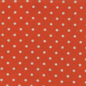 Mochi Linen Dot By Momo - 30% Linen/70% Cotton - Tangerine