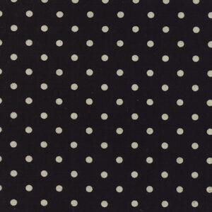 Mochi Linen Dot By Momo - 30% Linen/70% Cotton - Black