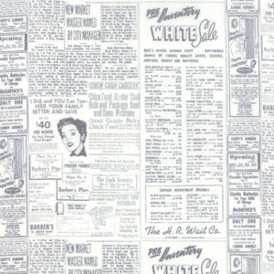 Modern Background Paper By Zen Chic - Graphite/Off White