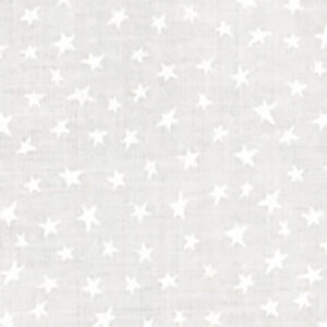 Muslin Mates Stars By Moda - White