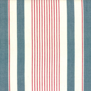 Picnic Point Tea Toweling By Pieces To Treasures For Moda - White & Blue
