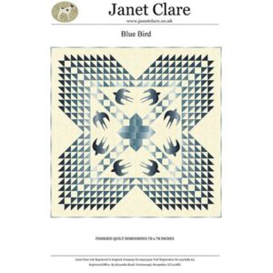 Blue Bird Pattern By Janet Clare For Moda - Min. Of 3