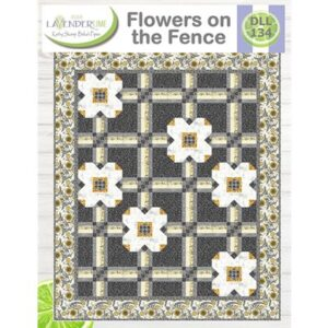 Flowers On The Fence By Lavender Lime For Moda - Min. Of 3