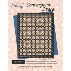 Centerpoint Stars Pattern By Sarah J For Moda - Min. Of 3