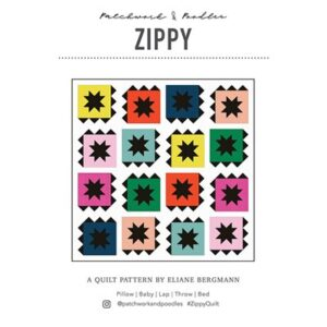 Zippy Pattern By Patchwork & Poodle For Moda - Minimum Of 3