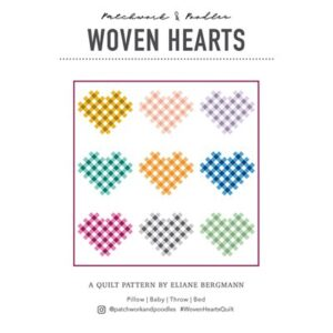Woven Hearts Pattern By Patchwork & Poodle For Moda - Minimum Of 3