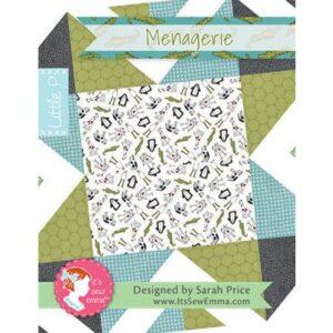 Little P Menagerie Pattern By It's Sew Emma For Moda - Min. Of 3