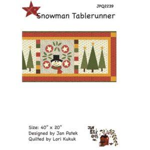 Snowman Table Runner Pattern By Jan Patek Quilts For Moda - Min. Of 3