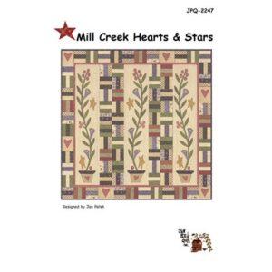 Mill Creek Hearts & Stars Pattern By Jan Patek Quilts For Moda - Minimum Of 3