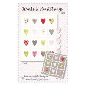 Hearts And Heartstrings Pattern By Acorn Quilt & Gift Co. For Moda - Minimum Of 3