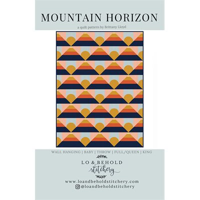 Mountain Horizon Pattern By Lo & Behold Stitch For Moda - Min. Of 3