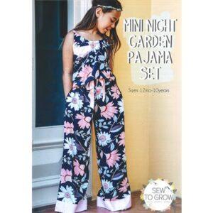 Mini Night Garden Pajama Set Pattern By Sew To Grow For Moda - Min. Of 3