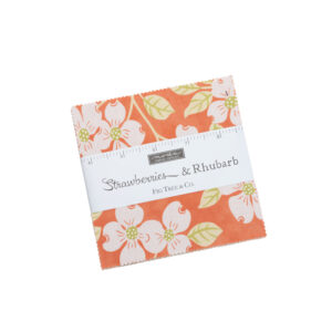 Strawberries And Rhubarb Charm Packs By Moda - Packs Of 12