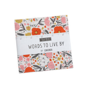 Words To Live By Charm Packs By Moda - Packs Of 12
