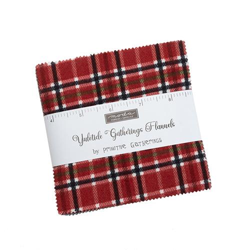 Yuletide Gatherings Flannels Charm Packs - Packs Of 12