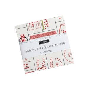 Red Barn Christmas Charm Packs By Moda - Packs Of 12