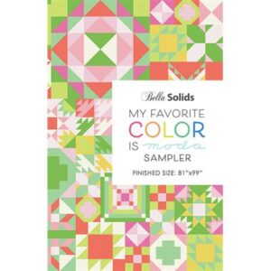 My Favorite Color Is Moda Sampler Pattern Booklet By Moda - Packs Of 6