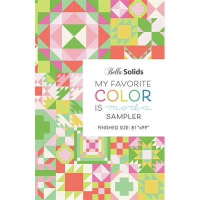 My Favorite Color Is Moda Sampler Pattern Booklet By Moda - Packs Of 6