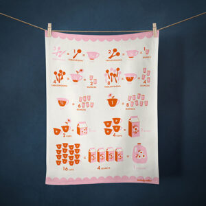Tea Towel Collection 2021/Measurement Conversions By Ruby Star Society For Moda - Multiple  Of 6