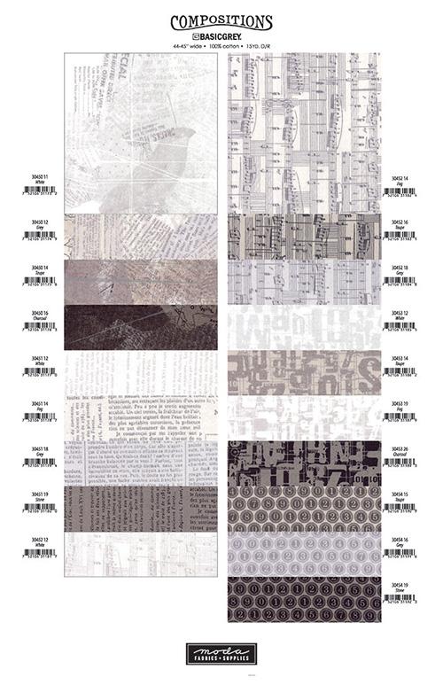 Composition Shade Card By Moda