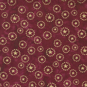 Felicity Batiks By Kate Spain For Moda - Burgundy Metallic