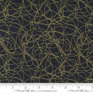 Whispers Metallic By Studio M For Moda - Black - Gold