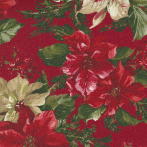 Sparkle And Shine Glitter By Moda - Crimson