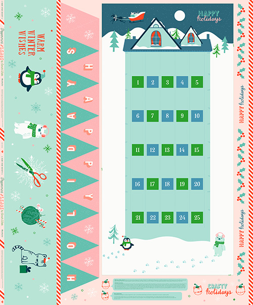 """Peppermint Please Packaged Panel 58"""" X 70"""" By Sarah Watts For Ruby Star Society - Min. Of 2"""