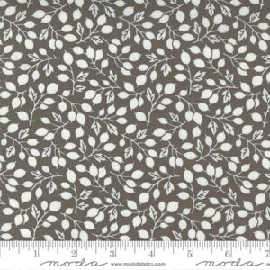 Pumpkins And Blossoms By Fig Tree & Co. For Moda - Charcoal