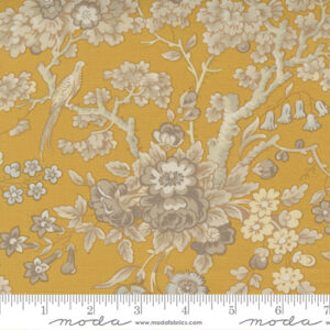 Regency Sumerset Blues By Christopher Wilson Tate For Moda - India Yellow