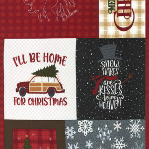 "Yuletide Gatherings Flannels 24"" X 44"" Panel By Primitive Gatherings For Moda - Multi"