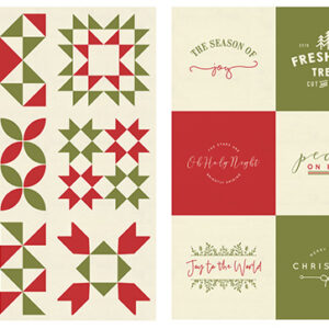 "Red Barn Christmas Packaged Panel 36"" X 54"" Canvas - 2 Pcs For Moda - Multi - Minimum Of 2 Packages"