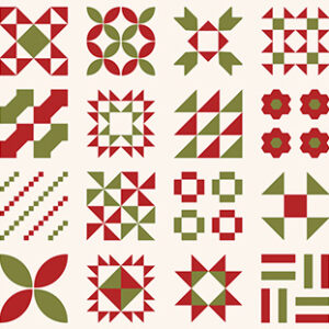 "Red Barn Christmas 58"" X 36"" Running Yardage Panel By Sweetwater For Moda - Vanilla / Multi"