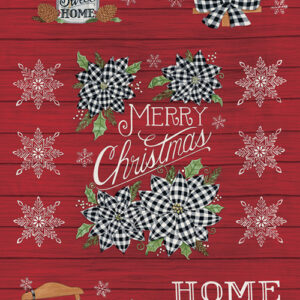 "Home Sweet Holidays 24"" X 44"" Panel By Deb Strain For Moda - Berry Red"
