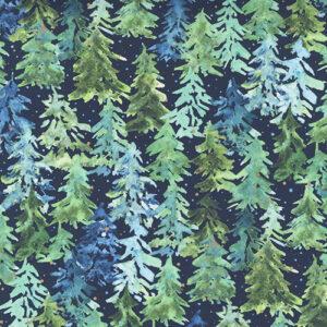 Starflower Christmas By Create Joy Project For Moda - Navy