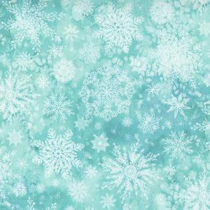 Starflower Christmas By Create Joy Project For Moda - Aqua