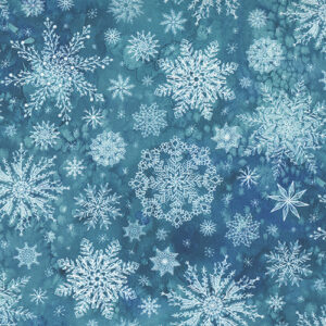 Starflower Christmas By Create Joy Project For Moda - Teal