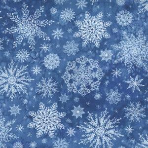Starflower Christmas By Create Joy Project For Moda - Blue