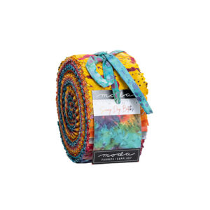 Sunny Day Batiks  Jelly Rolls By Moda - Packs Of 4
