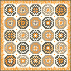 Pumpkins And Blossoms - Midnight Moon Light Version Kit For Moda