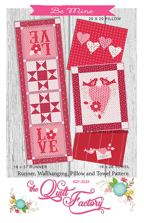 Be Mine By The Quilt Factory For Moda - Minimum Of 3