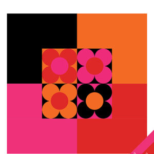 Colorblock Flowers Pattern By Hunters Design Studio For Moda - Minimum Of 3