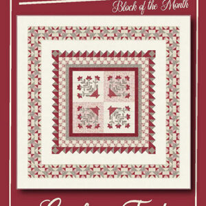 Cranberry Frost Bom/6 Pattern By Border Creek Station For Moda