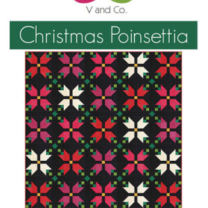 Christmas Poinsettia Pattern By V & Co For Moda - Min. Of 3