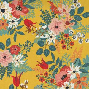 Lady Bird By Crystal Manning For Moda - Saffron